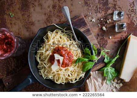 Italian pasta with pecorino cheese Stock photo © Melnyk