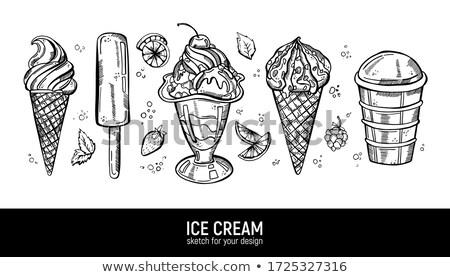 friss · hideg · fagylalt · bot · étel · gyermek - stock fotó © manaemedia