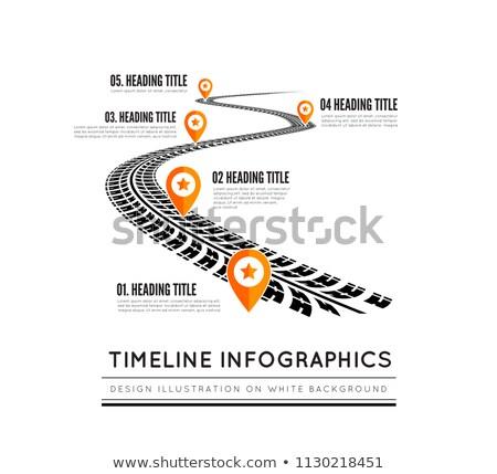Estrada maneira projeto infográficos pneu Foto stock © m_pavlov
