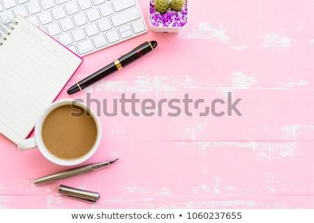 Stock photo: School girl White_desk work