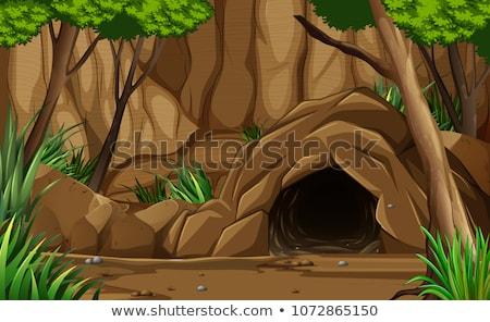 пещера океана вход иллюстрация природы морем Сток-фото © bluering
