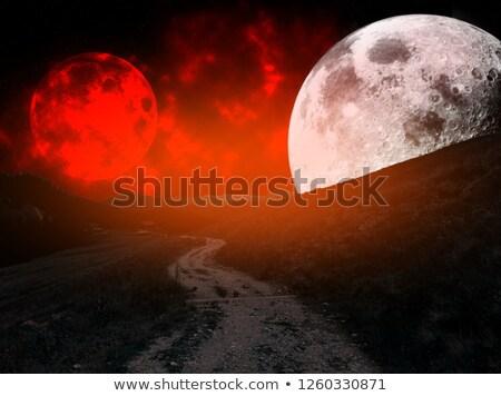 Zdjęcia stock: Drogowego · pustyni · noc · czasu · ilustracja · słońce