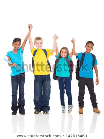 Multicultural kids on white background Stock photo © bluering