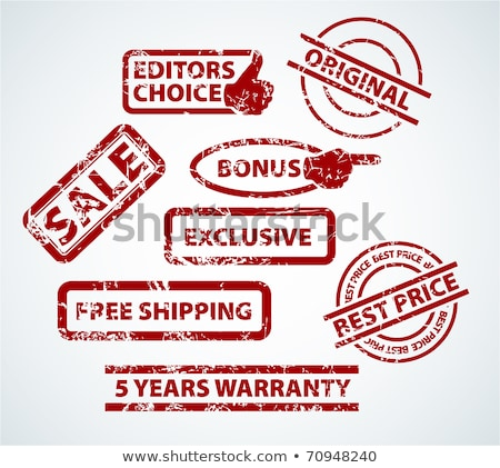 Grunge stamps for your eshop - sale, bonus, shipping and more Stock photo © orson