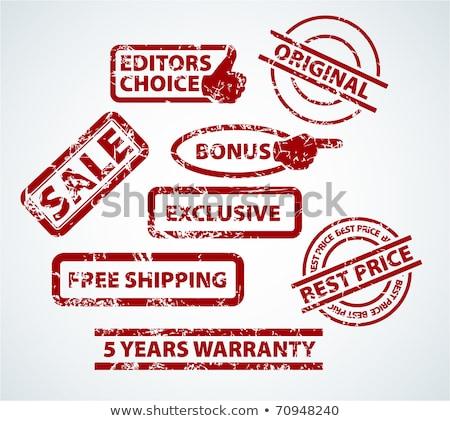Grunge postzegels verkoop bonus scheepvaart meer Stockfoto © orson