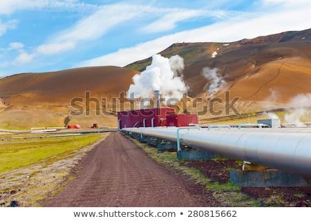 Megújuló energia csővezeték természetes forrás hő Stock fotó © Kotenko