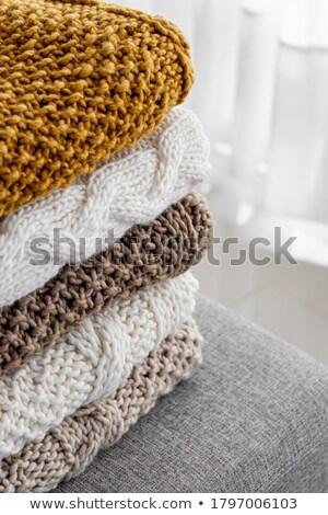 Gezellig gebreid pastel kleuren witte Stockfoto © Lana_M