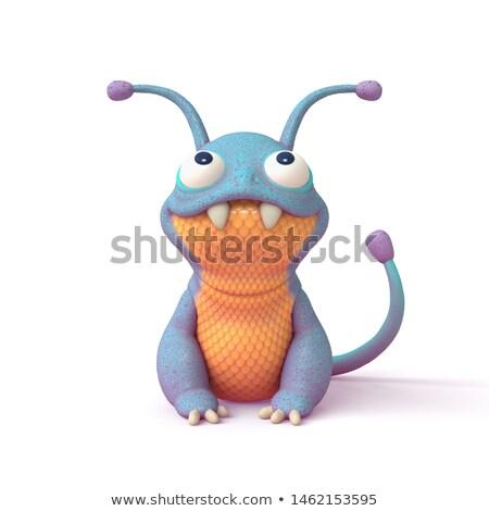 Desenho animado fantasia monstro alienígena ilustrações Foto stock © izakowski