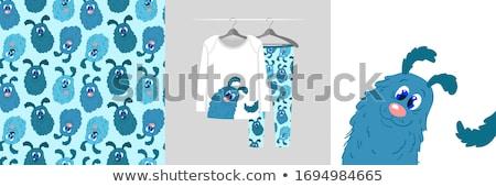Cartoon glimlachend puppy pyjama Stockfoto © cthoman