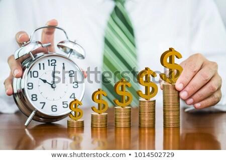 adó · idő · óra · közelkép · izolált · fehér - stock fotó © andreypopov