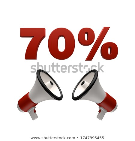 70 percent sign and megaphone 3D Stock photo © djmilic