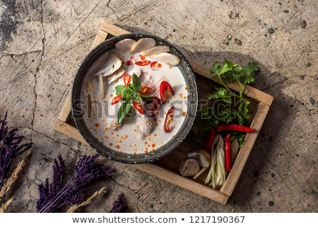 cremoso · cogumelo · sopa · fundo · verde - foto stock © alex9500