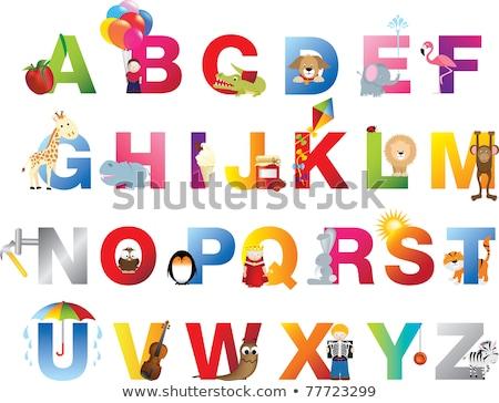 Inglês palavra crocodilo ilustração escolas Foto stock © bluering