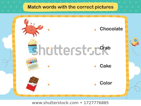 Spell English word crab Stock photo © bluering