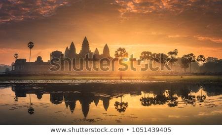 Angkor Wat tapınak Kamboçya ikonik işaret yansıma Stok fotoğraf © dmitry_rukhlenko