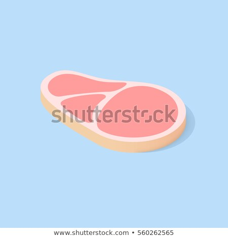 Raw fresh meat marble beef steak vector isolated on white. Fresh meat icon Stock photo © MarySan