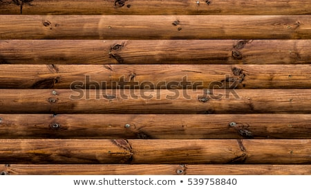 Stock photo: Log cabin wall background