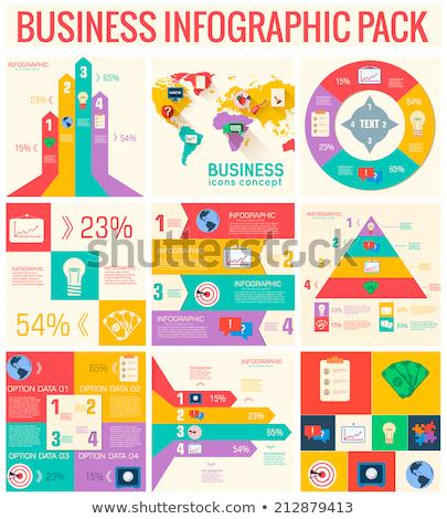 Collectie business communie ingesteld ontwerp Stockfoto © Linetale