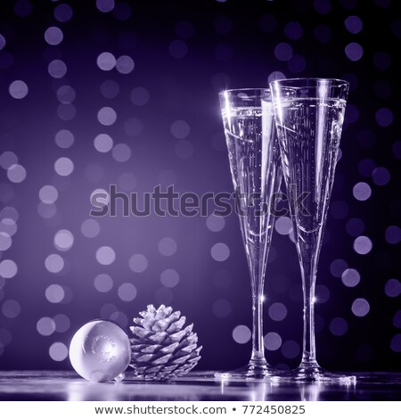 New Year Party Background in Purple Tones Stock photo © derocz