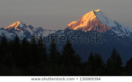 alpes · Nova · Zelândia · nuvens · neve · verão - foto stock © cozyta