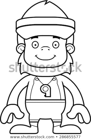 Cartoon Smiling Lifeguard Sasquatch Stock photo © cthoman