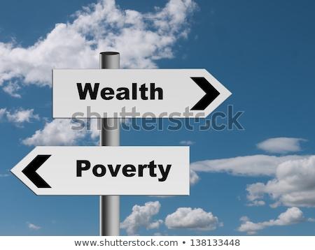 Abbondanza povertà frecce mano disegno marcatore Foto d'archivio © ivelin