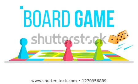 board game vector field space logical table game for kids isolated flat cartoon illustration stock photo © pikepicture