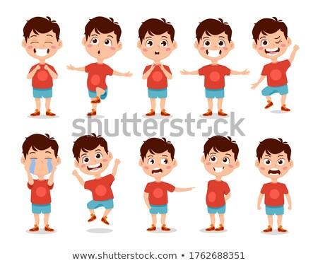 Fiú óvoda gyerek vektor animáció teremtés Stock fotó © pikepicture