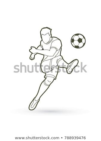 Futbolista disparo pelota fútbol futbolista Foto stock © tashatuvango