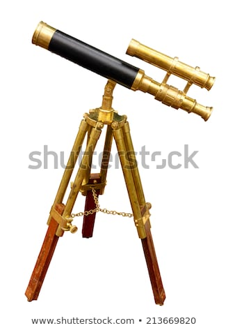 Legno telescopio bianco illustrazione sfondo scienza Foto d'archivio © colematt