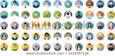 Fireman Avatar People Icon Stock photo © Krisdog