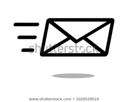 fast mail, email, sms vector icon, email icon. Fyling envelope. Fast delivery. Vector illustration i Stock photo © kyryloff