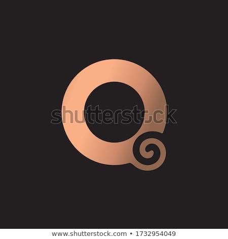 Logo logotípus fekete levél vektor ikon Stock fotó © blaskorizov
