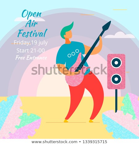 Festival de musique design style coloré illustration élevé Photo stock © Decorwithme