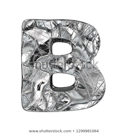 Grunge alumínium betűtípus levél 3D 3d render Stock fotó © djmilic