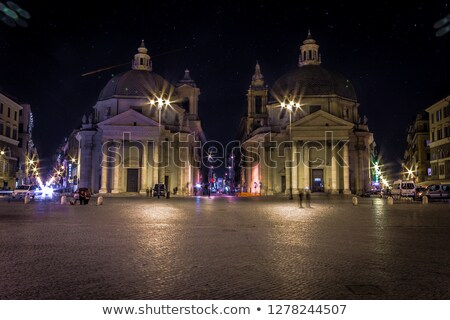 Old Town Square at night in Prague with stars sky Stock photo © Taiga