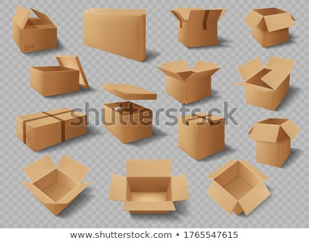 Set of Boxes with Adhesive Tape Rectangular Square Stock photo © robuart