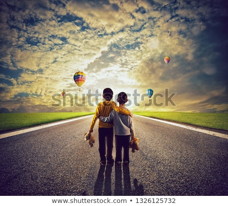 two kinds observe along way full of colors stock photo © alphaspirit