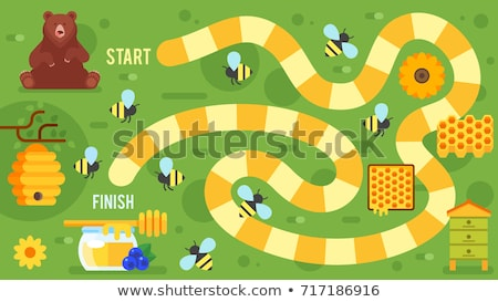 bee board game template stock photo © colematt