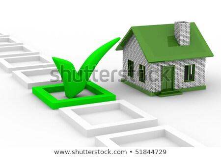 Huis witte geïsoleerd 3D 3d illustration business Stockfoto © ISerg