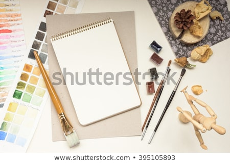 Horizontal blank sketch book on white Stock photo © nuttakit
