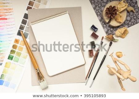 開いた本 · 孤立した · 白 · 図書 · 背景 - ストックフォト © nuttakit