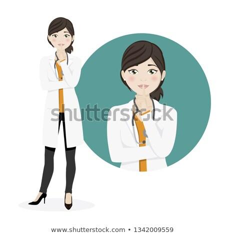 Mujer médico silencio blanco trabajo Foto stock © Imaagio