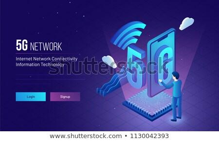 5g network concept landing page. Stock photo © RAStudio