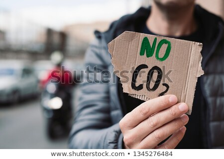 text no CO2 in a cardboard signboard Stock photo © nito