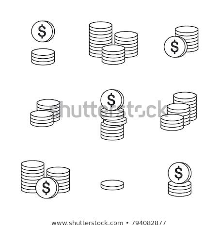 dolar · işareti · yalıtılmış · ikon · beyaz · iş · para - stok fotoğraf © angelp