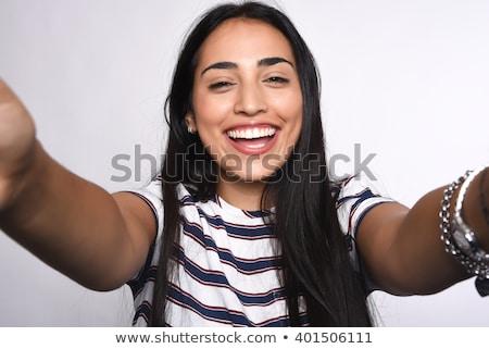 női · arc · közelkép · szőke · haj · vonzó · fiatal · nő · arc - stock fotó © deandrobot