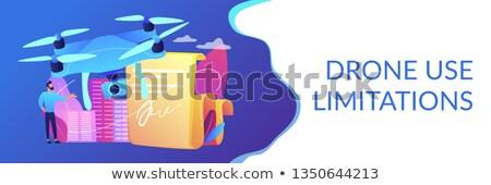 Drone flying regulations concept banner header. Stock photo © RAStudio