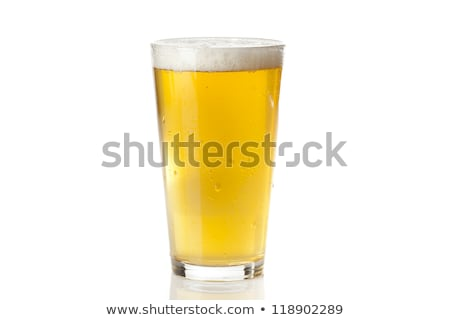 Pint bier abstract donkere zwarte Stockfoto © albund