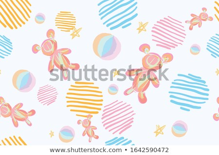 Soft Toys, Dolls Cartoon Vector Seamless Pattern Сток-фото © pikepicture